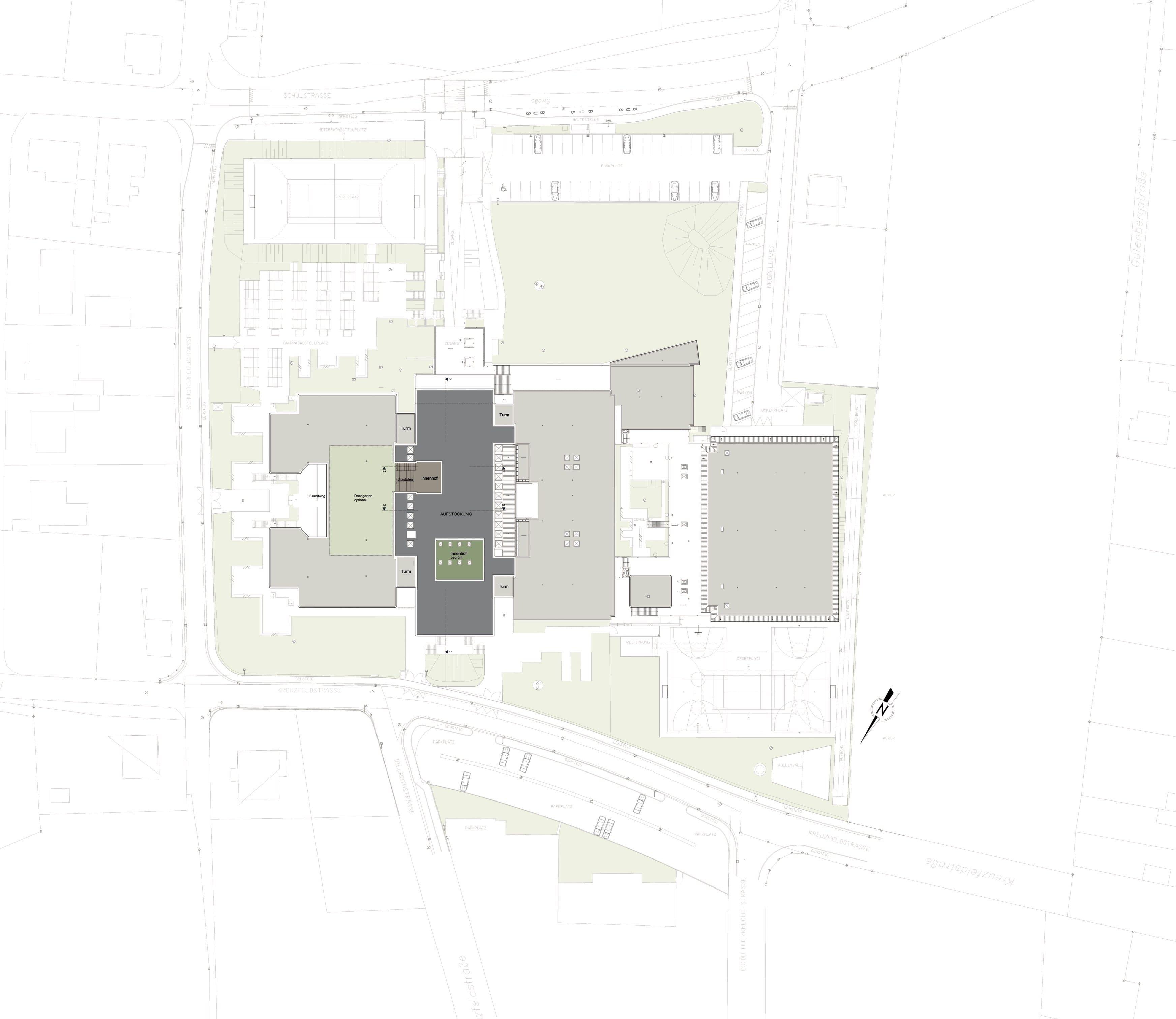 Architekturwettbewerb, Bundesschulzentrum Traun, Schule