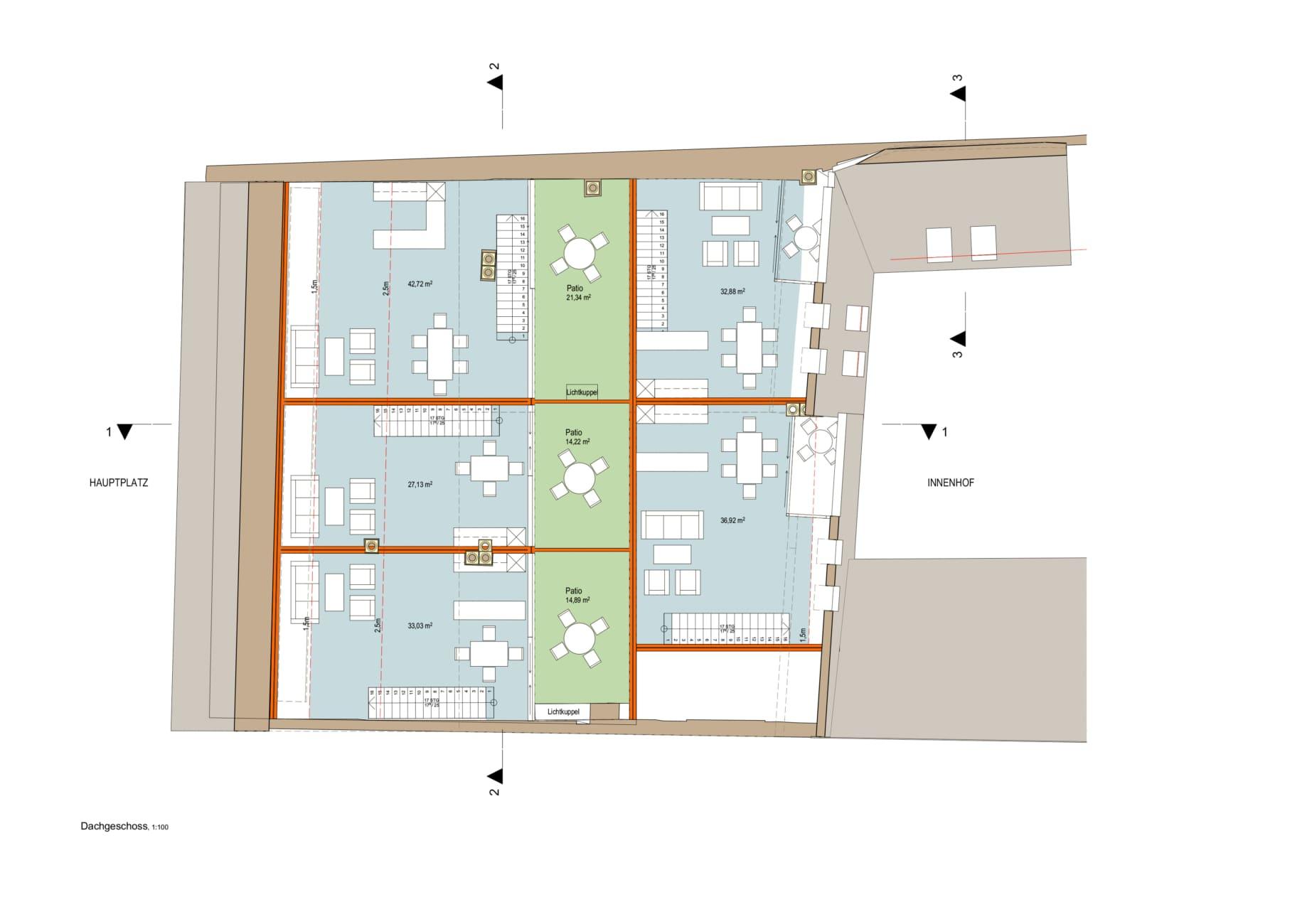 Grundriss, ansicht, linz, architekt, umbau, im bestand, sanieren, dachausbau