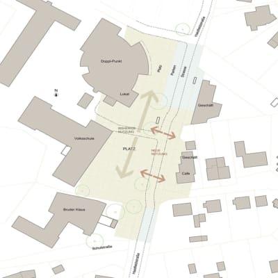 Architekt, Neugestaltung, Ortsplatz, Stadtplatz, Doppl, Leonding, Zentrum, Belebung