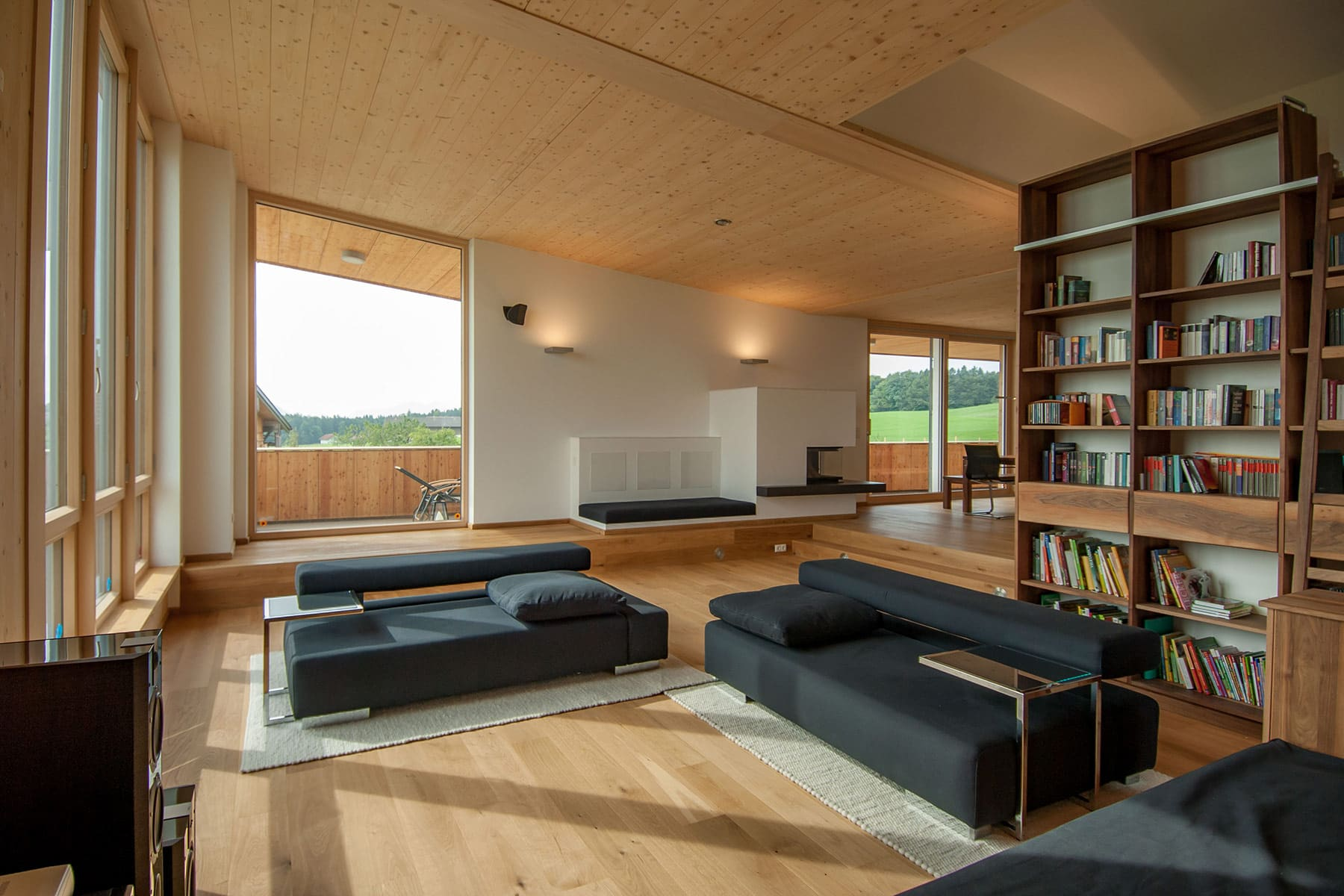 wohnraum, holzhaus, architekt, haus, bauernhof, umbau, salzburg, landleben, loft, architektur