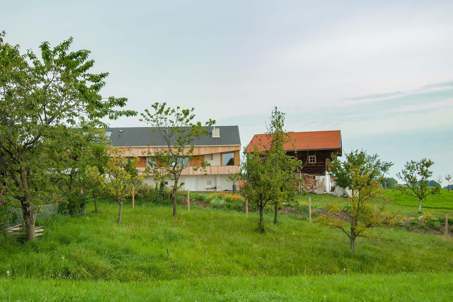 garten, holzhaus, architekt, haus, bauernhof, umbau, salzburg, landleben, loft, architektur