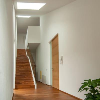Vorraum, Haus am Berg, architekt, hanghaus, haus am hang, architektur, architektenhaus, gramastetten