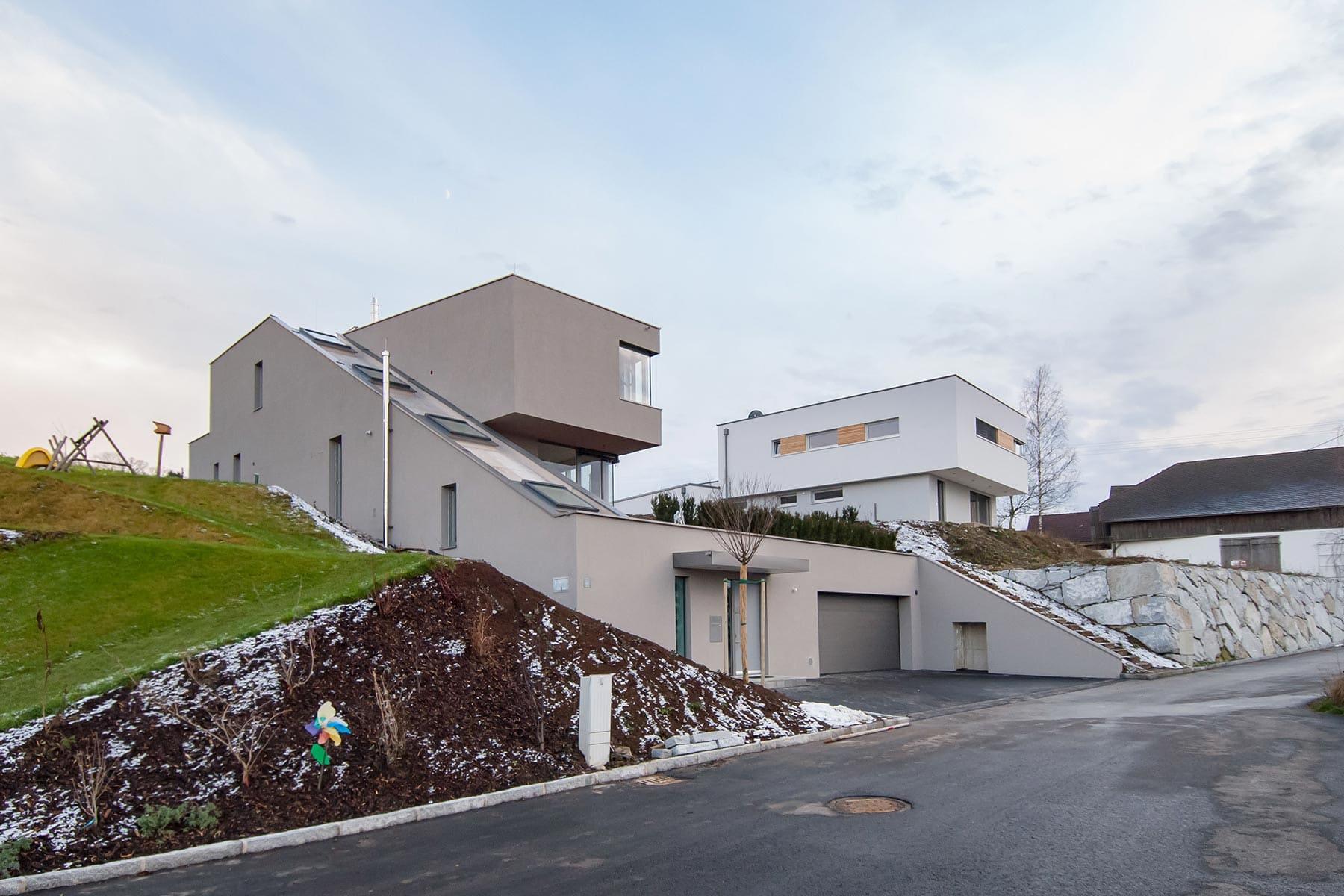 HAUS, Haus am Berg, hanghaus, haus am hang, architektur, architektenhaus, gramastetten