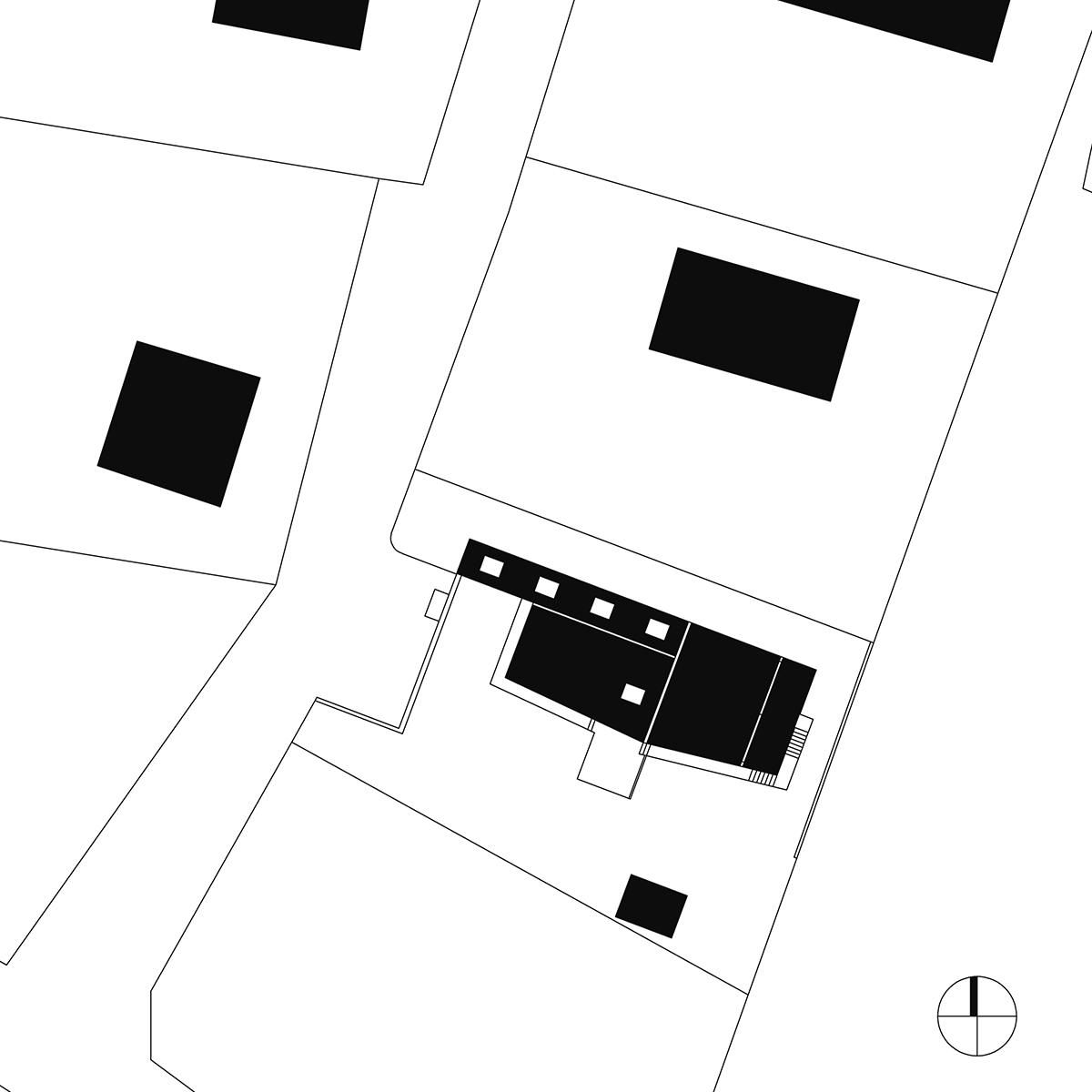 Lageplan, Haus am Berg, architekt, hanghaus, haus am hang, architektur, architektenhaus, gramastetten