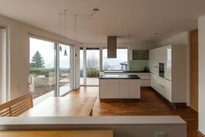 Wohnraum, Haus am Berg, architekt, hanghaus, haus am hang, architektur, architektenhaus, gramastetten