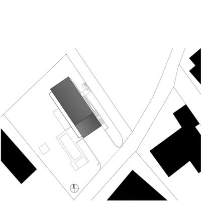 lageplan, haus im hang, architekt, architektenhaus, architektur, neubau, villa, familie