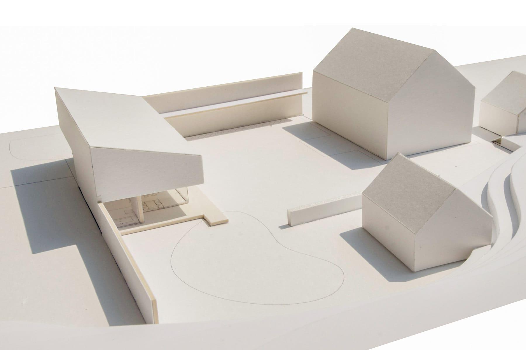 architekt, haus, badehaus, architektenhaus, entwurf, landleben, lärmschutz