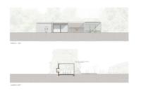 Ansicht, ARCHITEKT, Poolhaus, Architektenhaus, Gartenlaube, Chillen am Pool, Sommerlaune