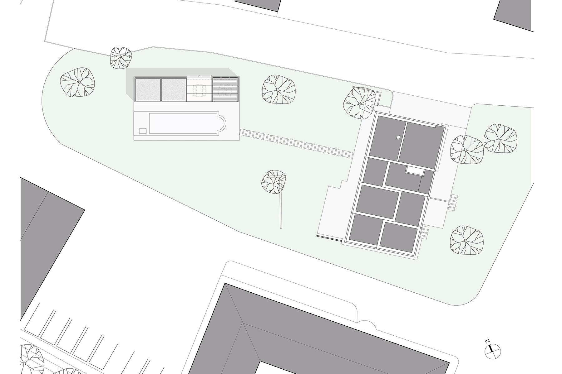 lageplan, ARCHITEKT, Poolhaus, Architektenhaus, Gartenlaube, Chillen am Pool, Sommerlaune