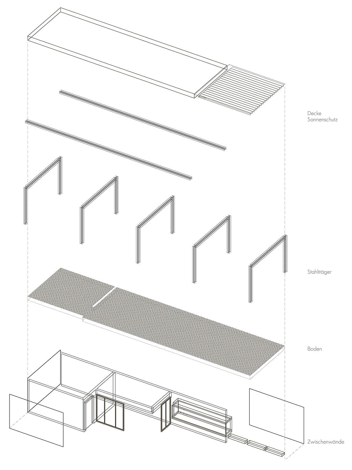 Modulbau, ARCHITEKT, Poolhaus, Architektenhaus, Gartenlaube, Chillen am Pool, Sommerlaune
