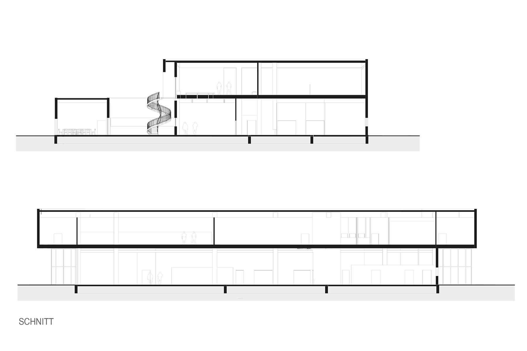 schnitt, Neubau, Firma, Architektur, Produktionsbetrieb, Peaktechnology, Holzhausen, Carbon, Kohlefaser