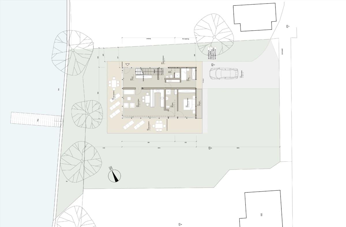 Haus am See, Attersee, Architektenhaus, Bootshaus, Seegrund