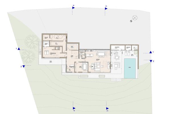 grundriss, architekt, haus, landleben, architektenhaus, peuerbach, umbau, zubau, sanierung, villa, pool, sonnenterrasse, familie, garten, oase, hausumbau,