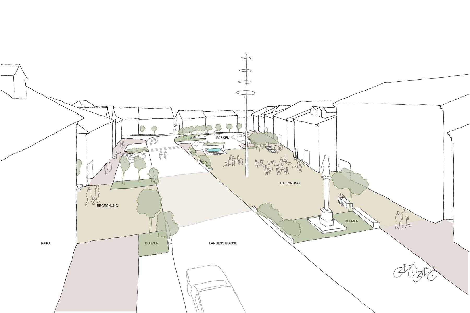 stadtplatz pregarten, stadtplatz, ortsplatz, marktplatz, neugestaltung, architekt, entwicklungskonzept, bürgerbeteiligung, kooperatives planen, planungsprozess