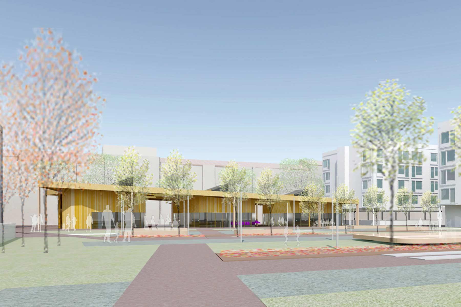 Architekturwettbewerb, Gruenmarkt, Park, Linz