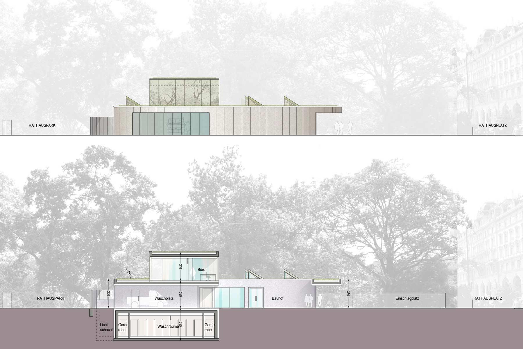 Architekturwettbewerb, Gaertnerunterkunft, MA42, Wien