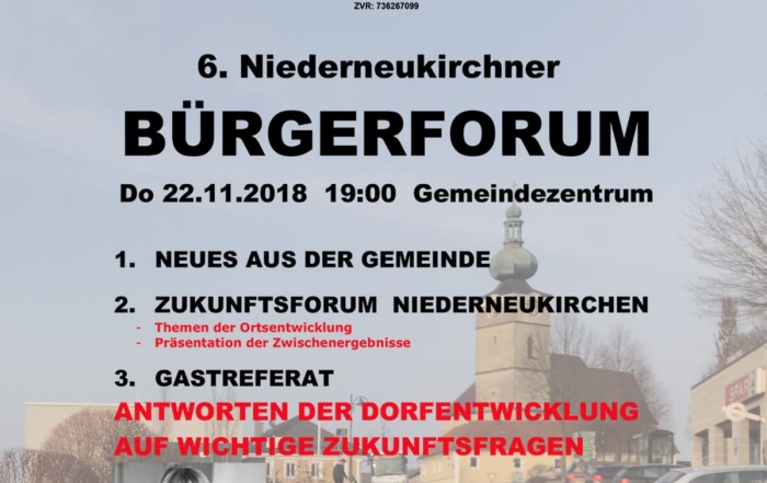 Einladung Niederneukirchen
