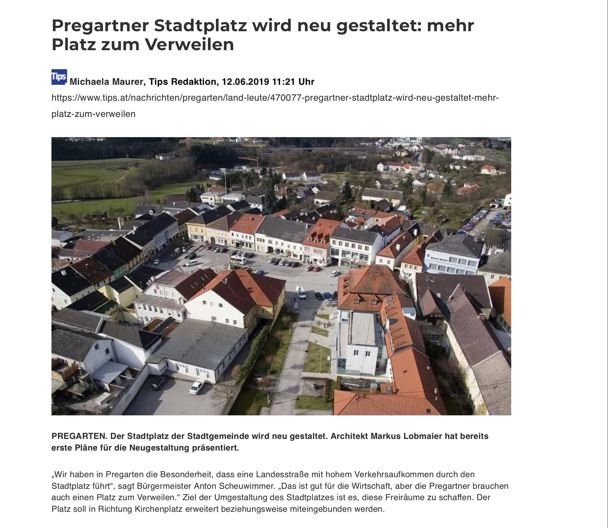 Stadtplatz Pregarten Tipsartikel